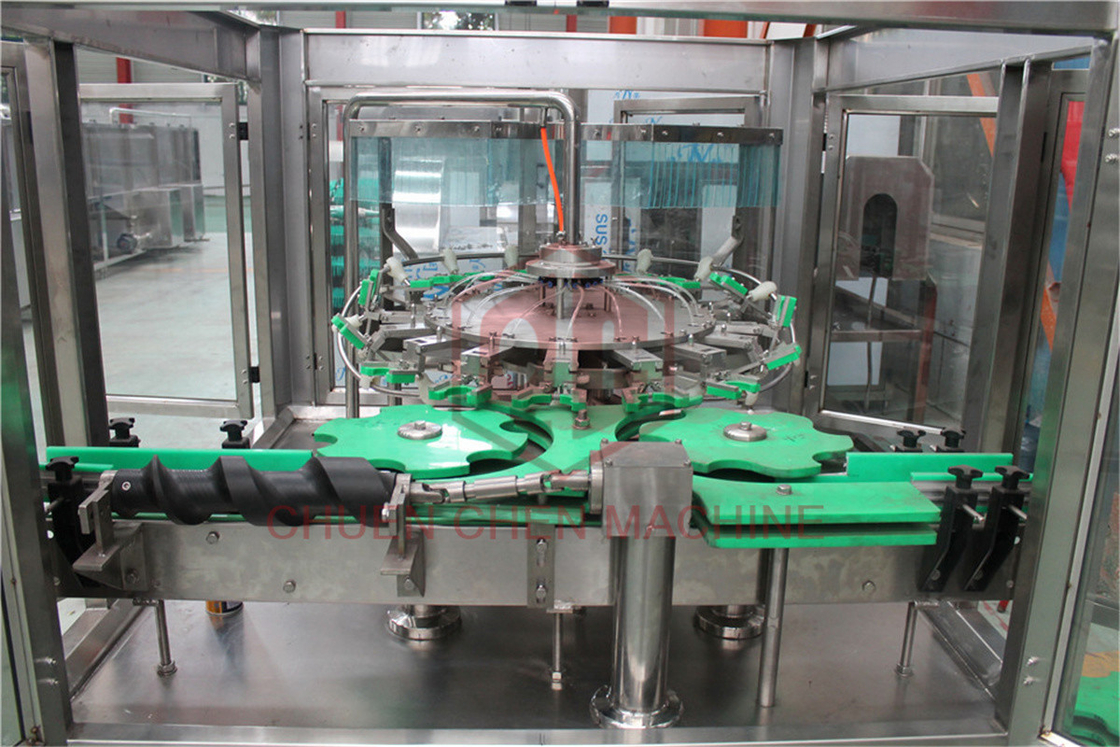 Water Bottle Filling Capping And Labeling Machine Linear Rotary Type